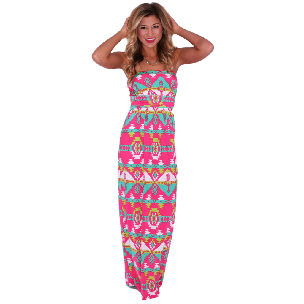 Sweetly Sunkissed Maxi in Pink