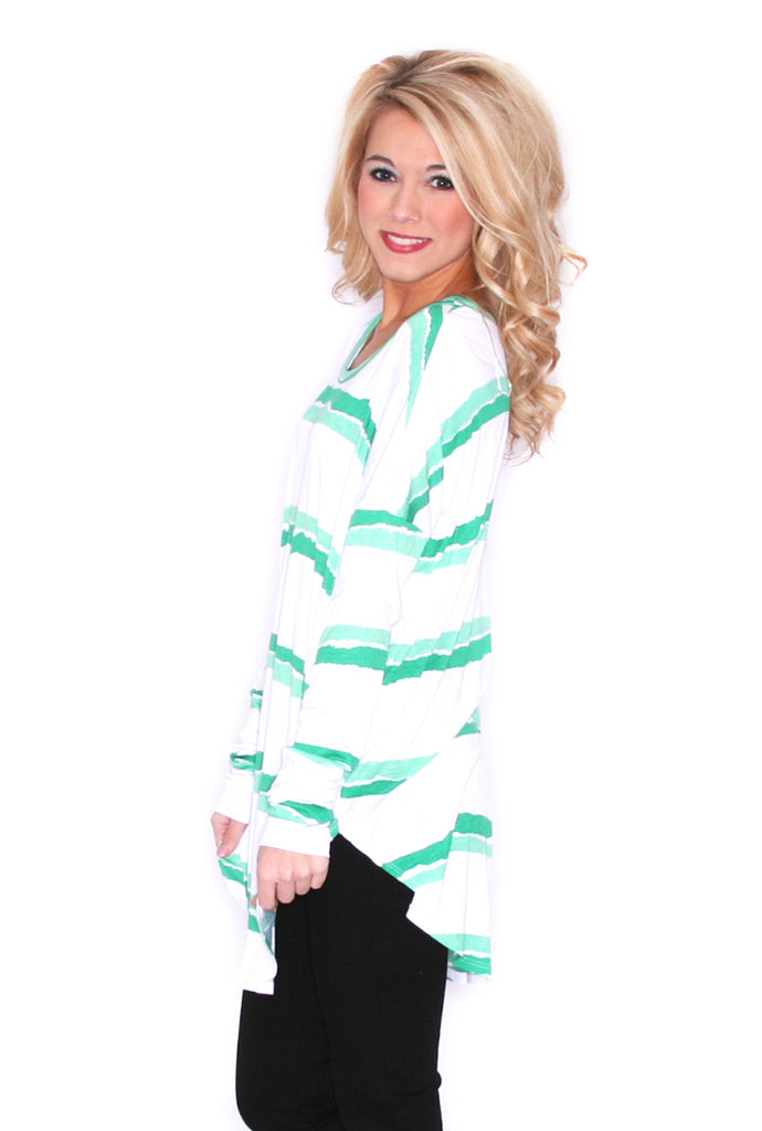Sweet on Stripes in Green