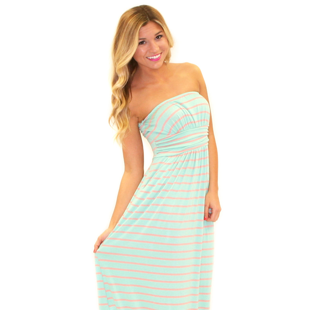 Sweet On Stripes Maxi Mint