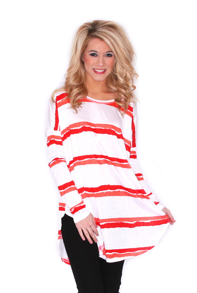 Sweet on Stripes in Red/Orange