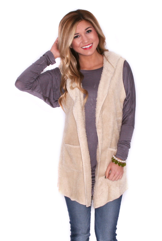 Sweet On The Slopes Vest Ivory