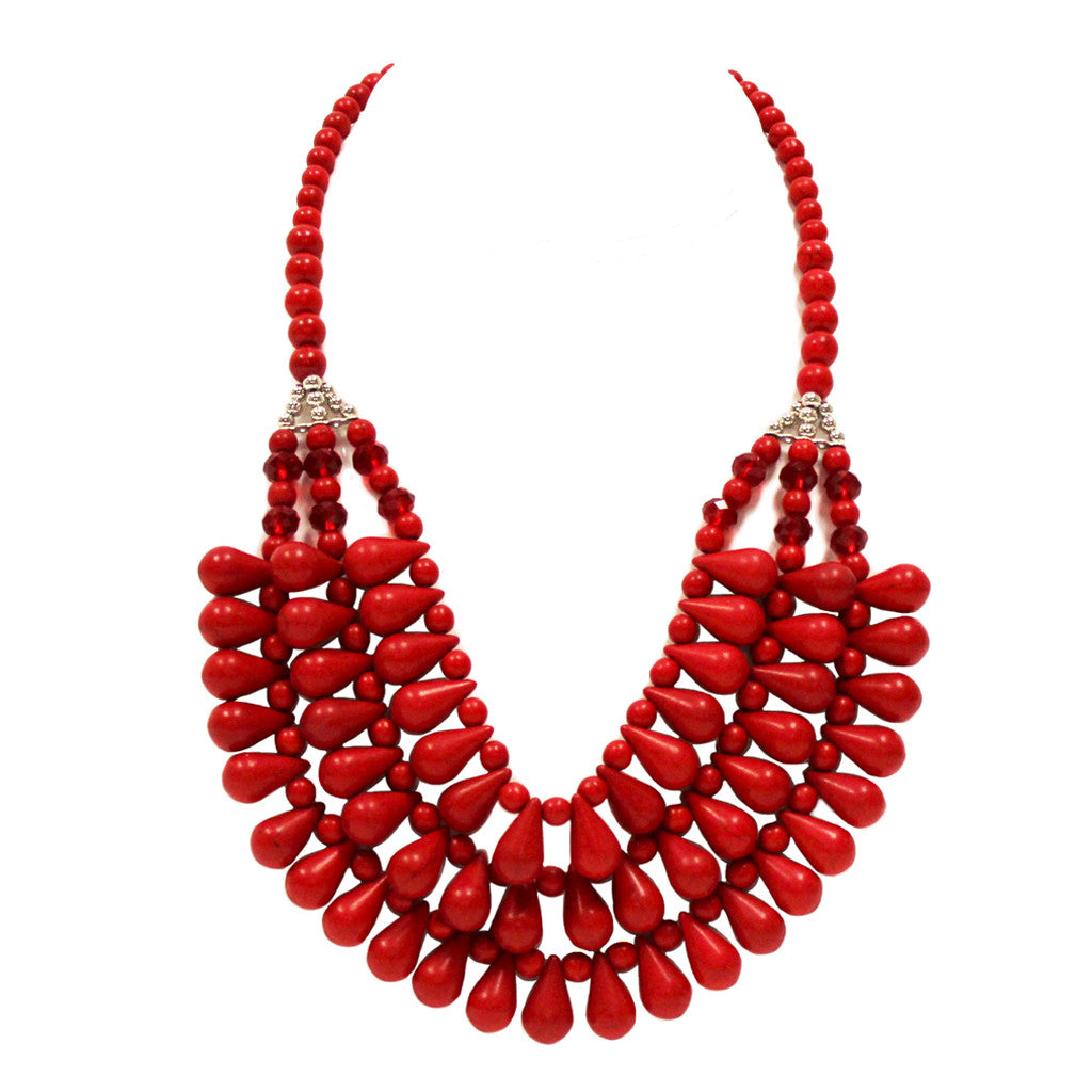 Sweet Perfection Necklace in Red