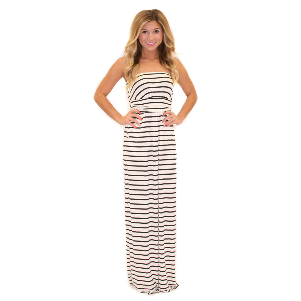 Sweet On Stripes Maxi Ivory