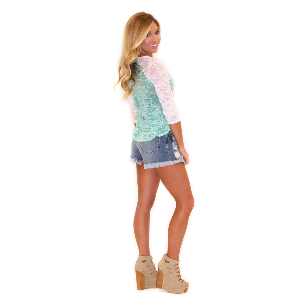 Sweet Sunshine Tee Aqua