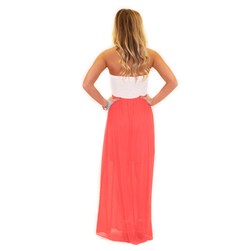 Sweet Sunshine Maxi in Coral