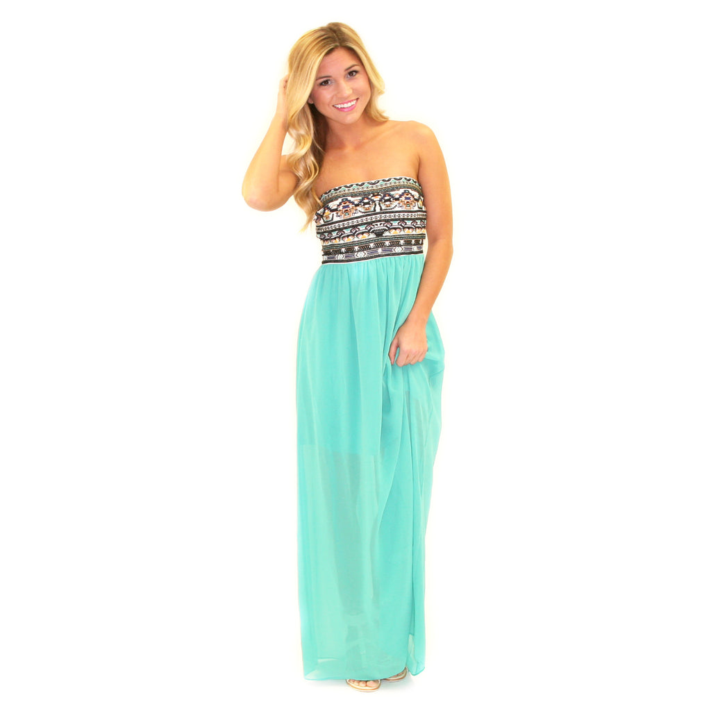 Sweet Sunshine Maxi in Jade