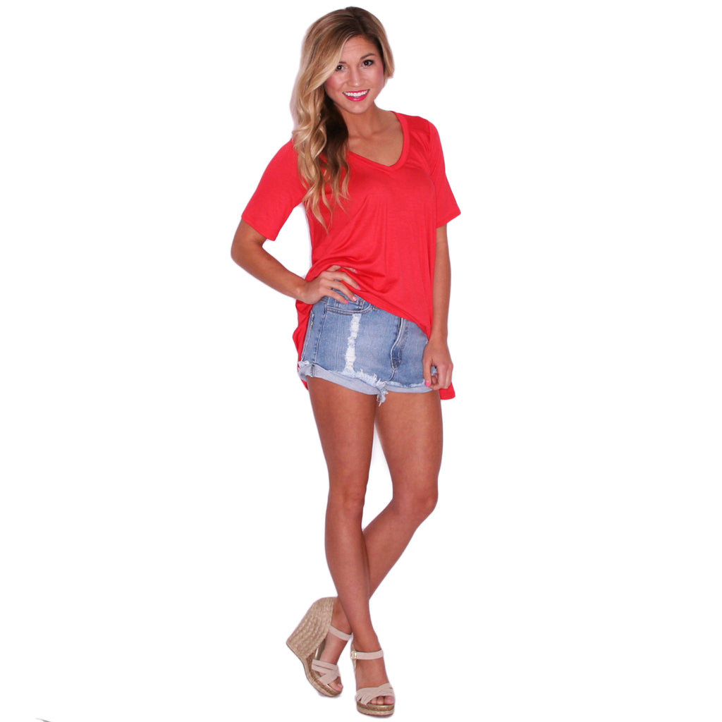 Swing With Me Tee in Coral