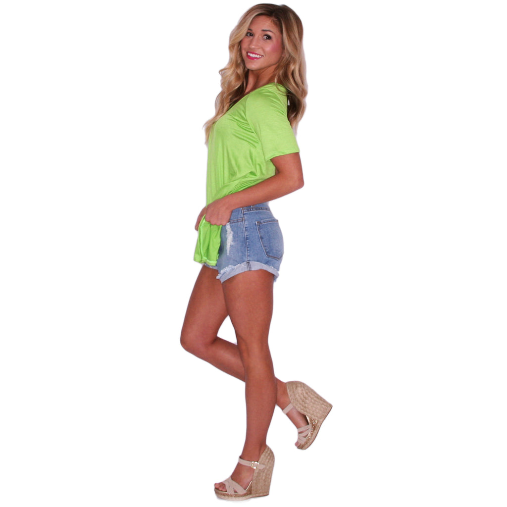Swing With Me Tee in Lime