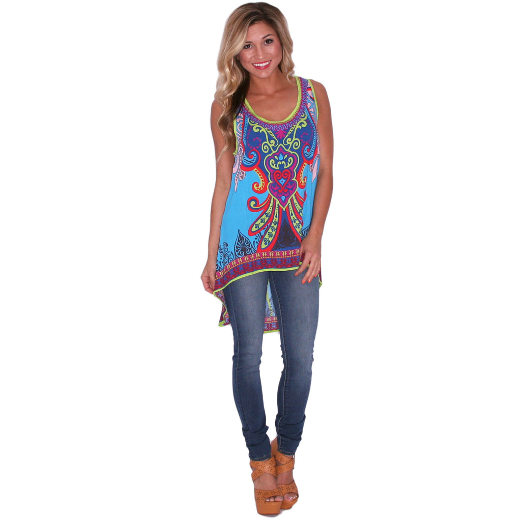 Taste Of The Tropics Tank in Aqua