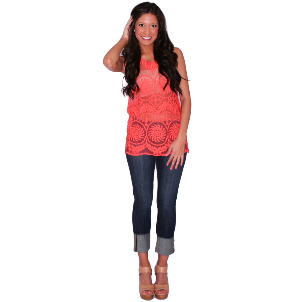 Tea Sipping Tank in Orange