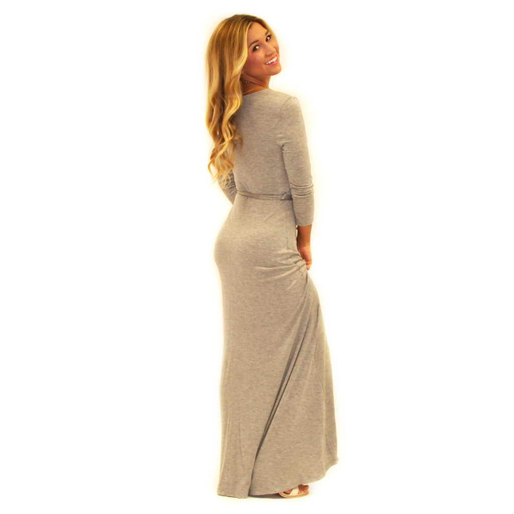 That's A Wrap Maxi in Heather Grey