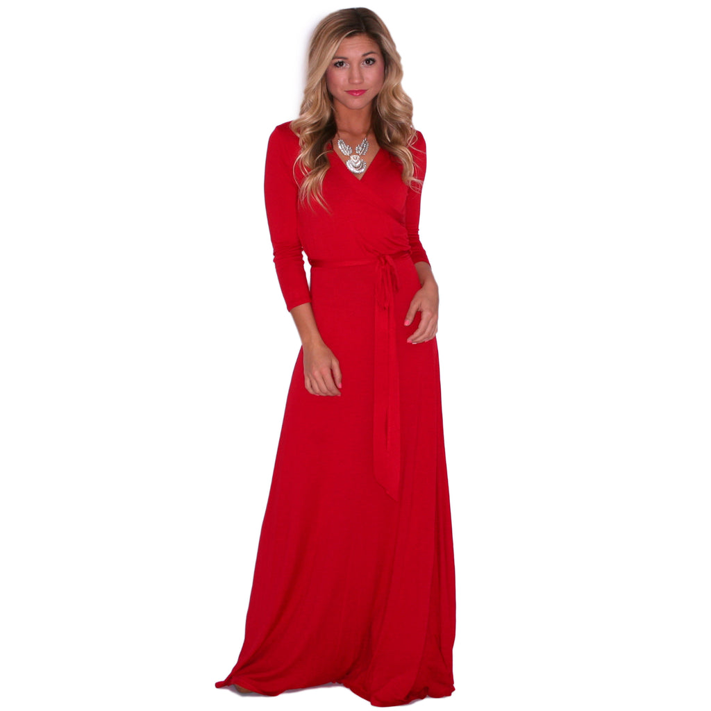That's A Wrap Maxi in Red