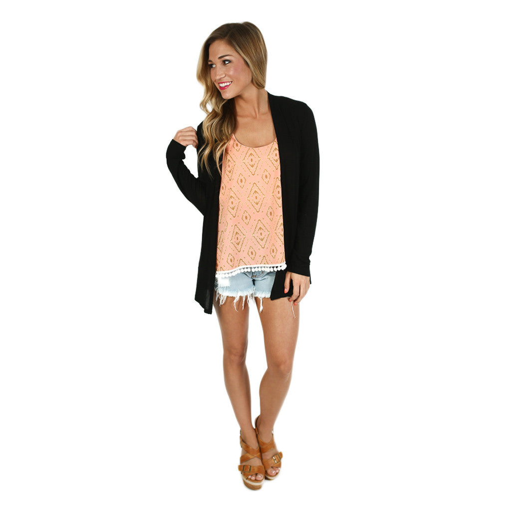 Thin Summer Sweater in Black
