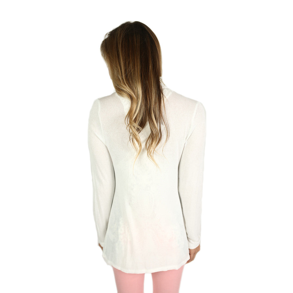 Thin Summer Sweater in Ivory