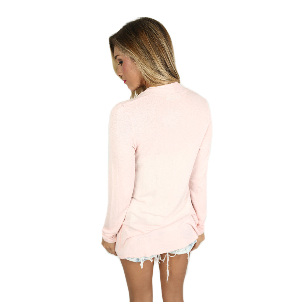 Thin Summer Sweater in Pink