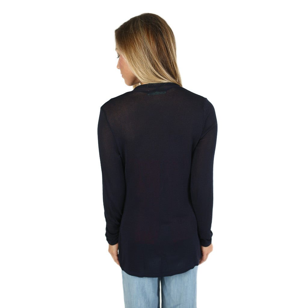 Thin Summer Sweater in Navy