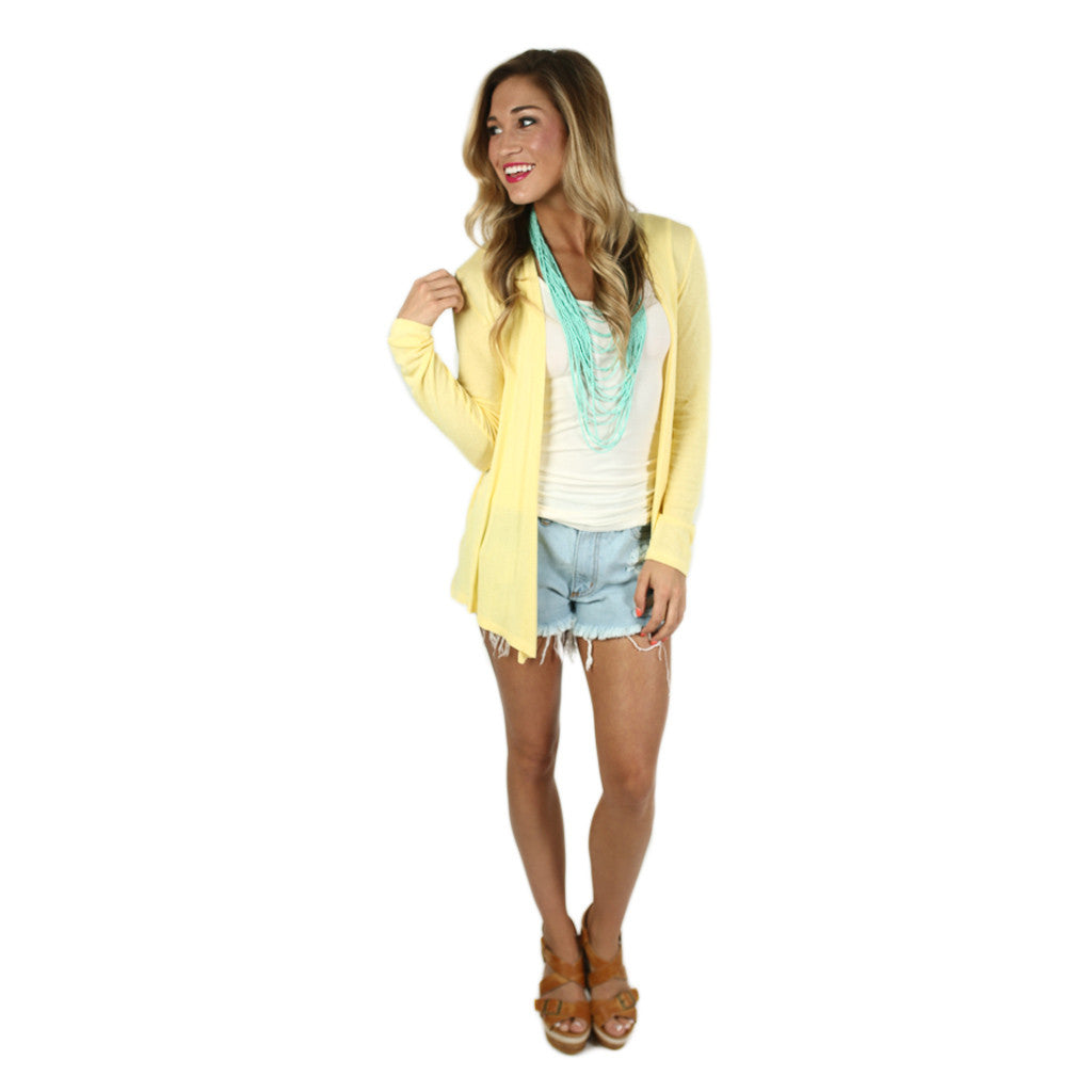 Thin Summer Sweater in Yellow