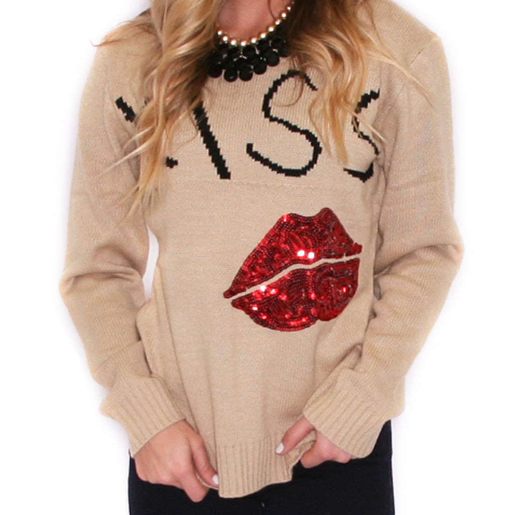 This Kiss Sweater in Taupe