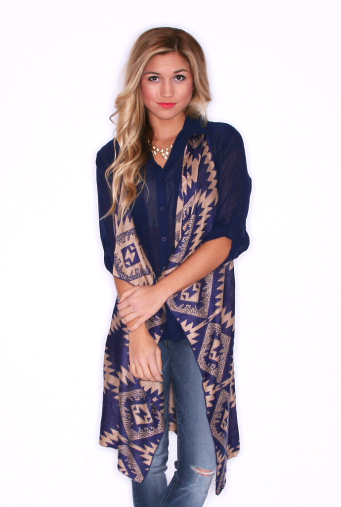Trend Setting Tribal Navy/Taupe