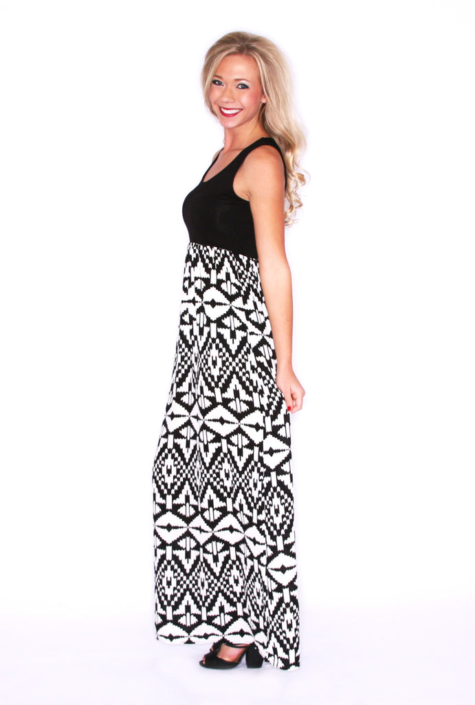 Tribal Me Pretty Maxi in Black
