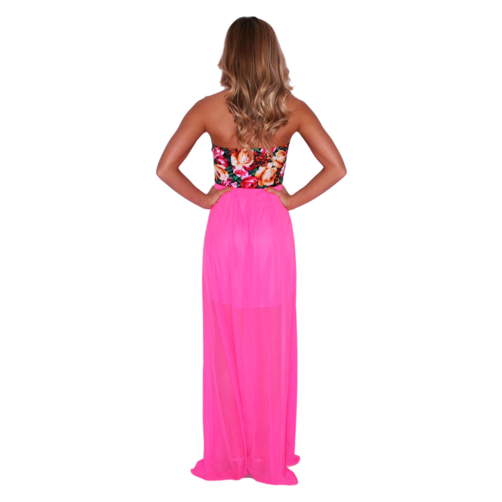 Tropical Party Hop Maxi in Pink