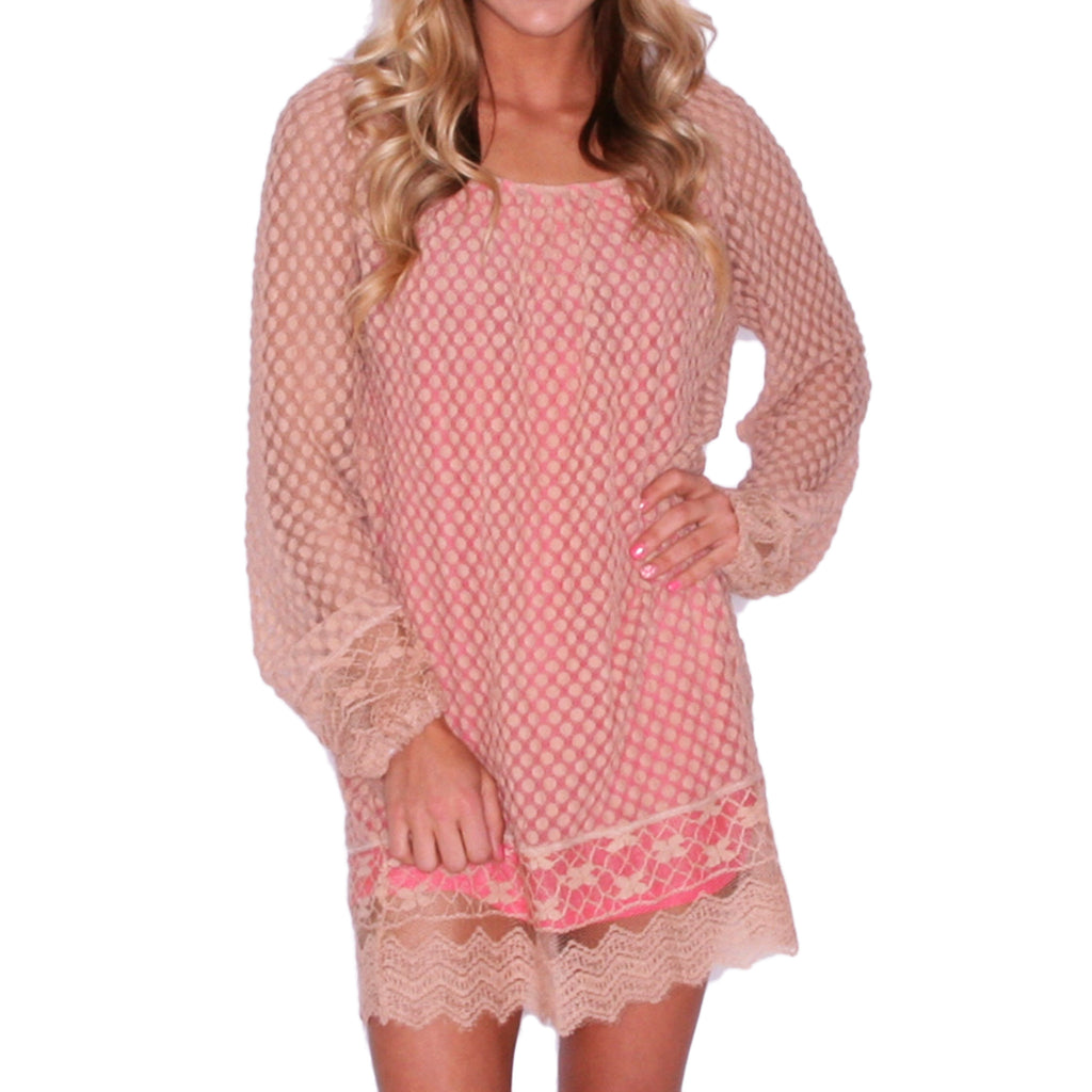 Boho Beauty Tunic Coral