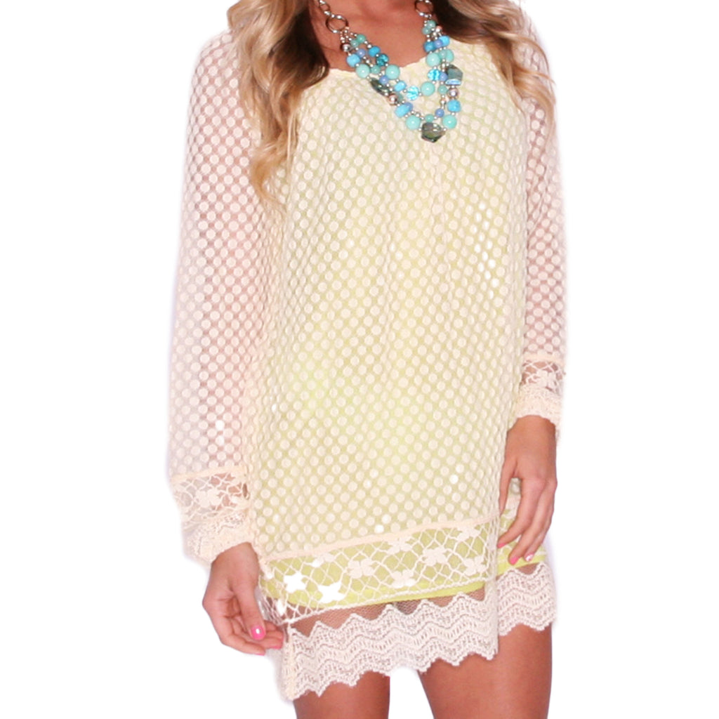 Boho Beauty Tunic Lime