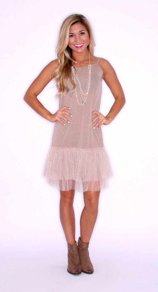 TuTu Cute Slip Dress Taupe