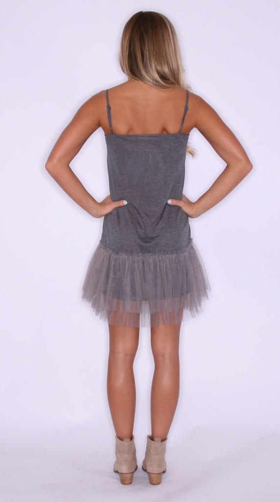 TuTu Cute Slip Dress Charcoal