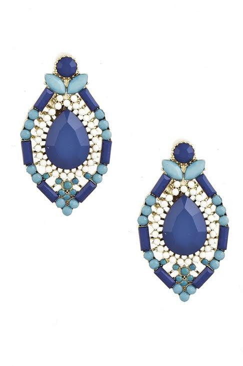 Sparkling Poolside Earrings in Blue