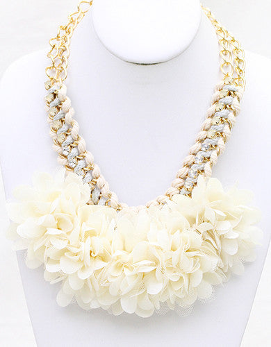 Flower Child Necklace in Ivory