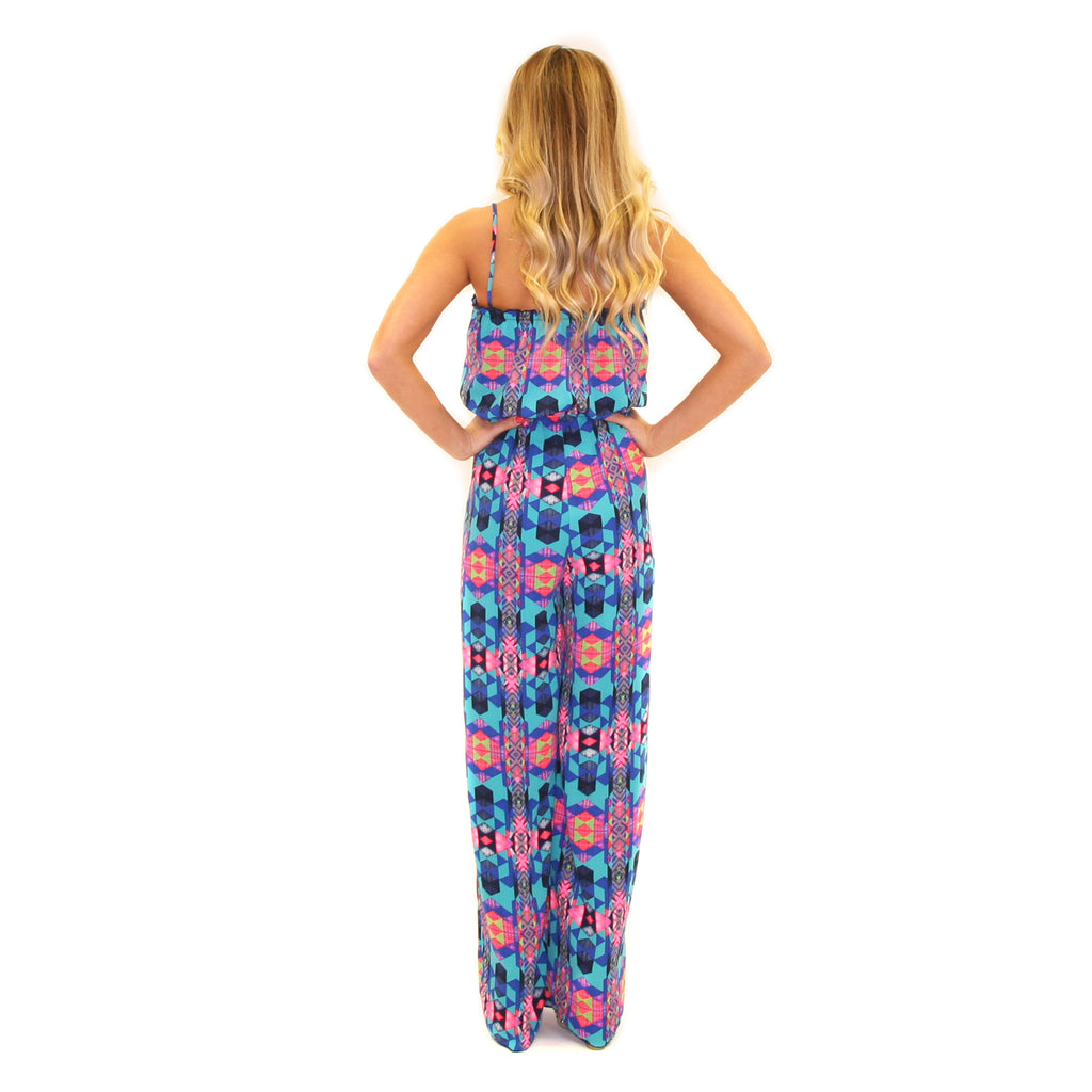 Vacation Bound Jumpsuit Blue