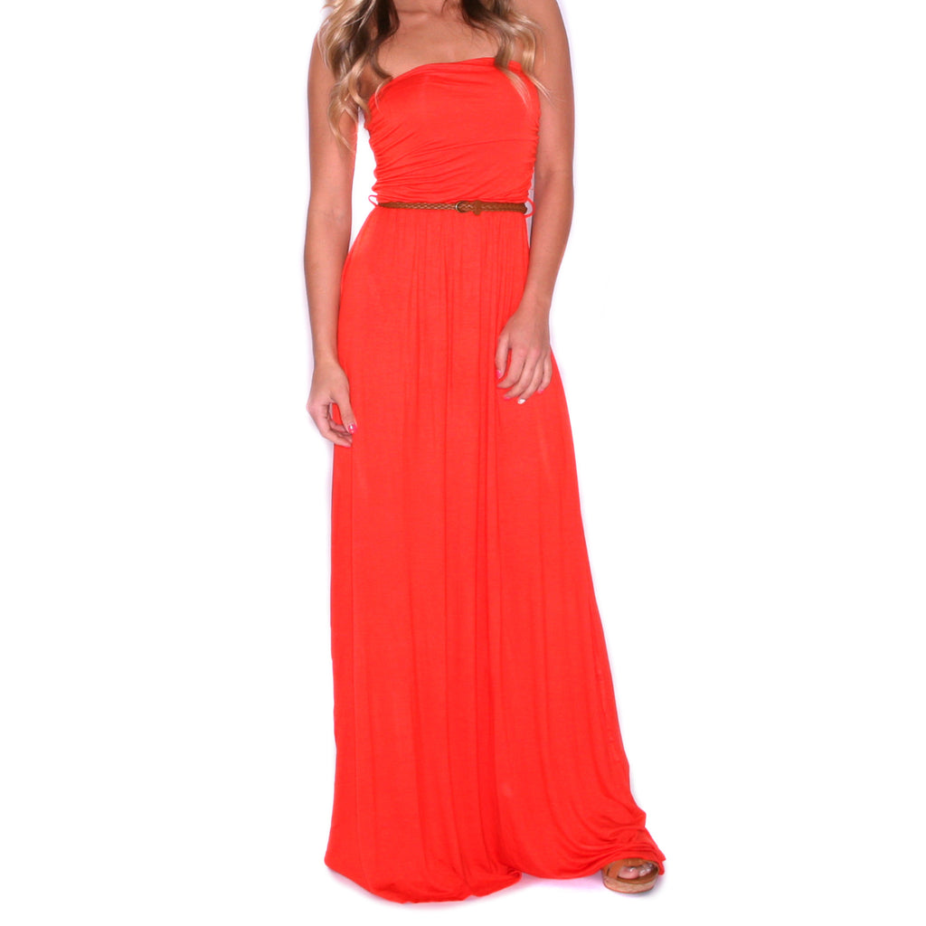 Vacation Sunset Maxi Red