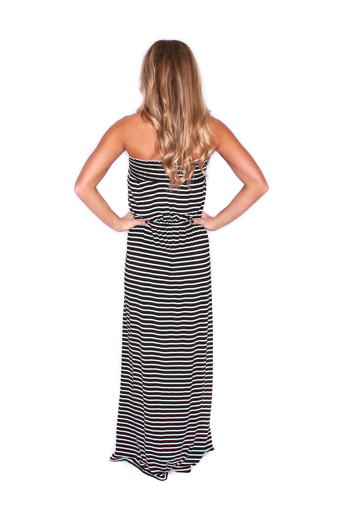 Vacation Stripe Maxi Black