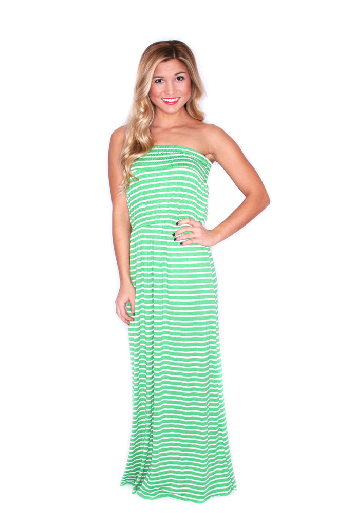 Vacation Stripe Maxi Green