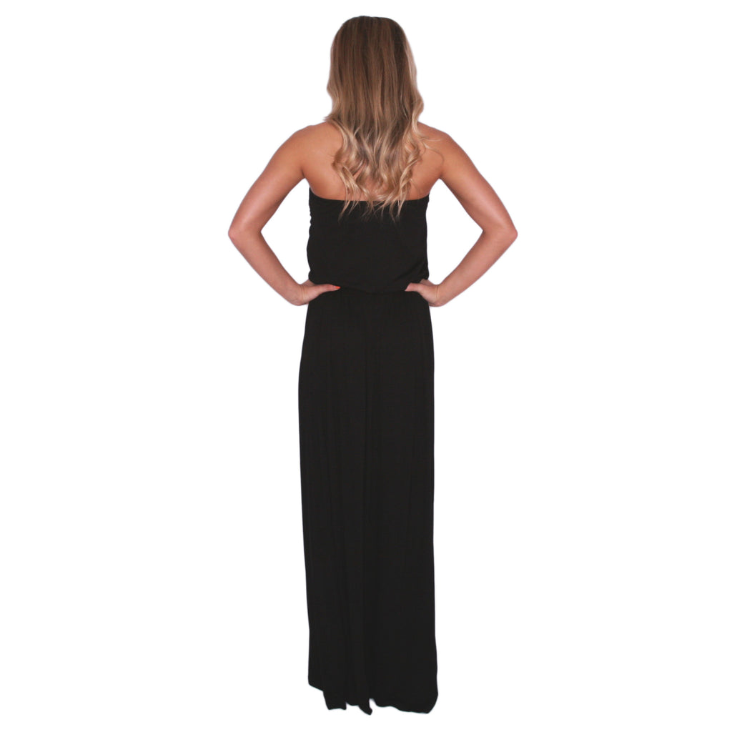 Vogue & Peonies Maxi in Black