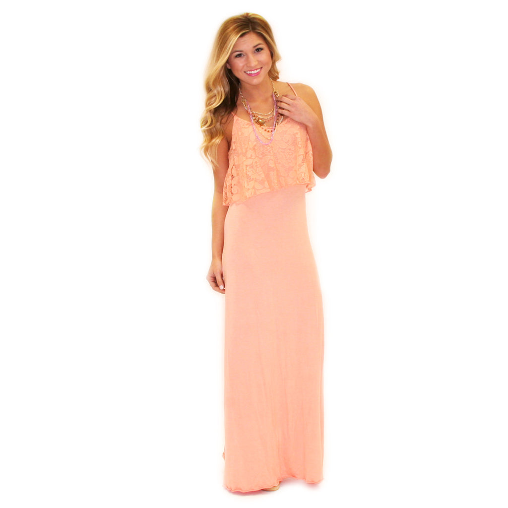 Walks On The Beach Maxi Peach