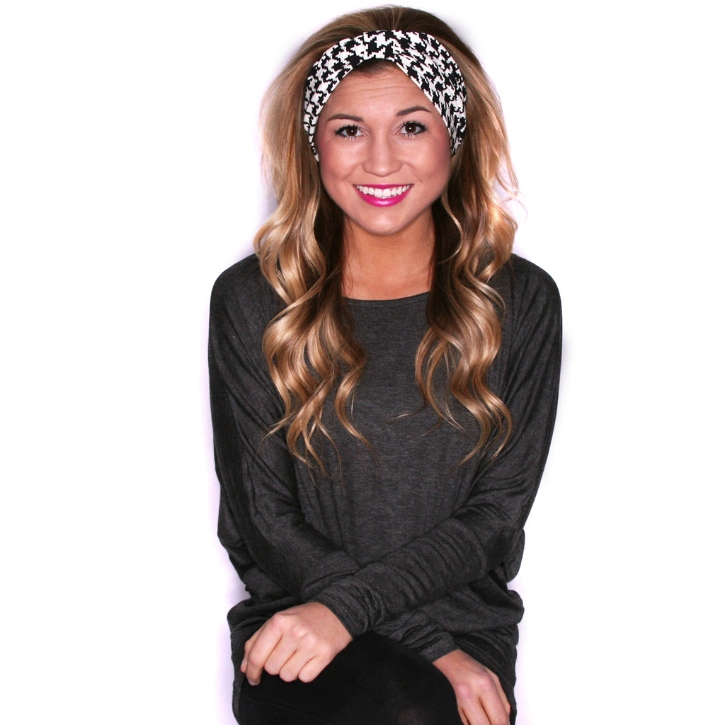 Houndstooth Happiness Headband
