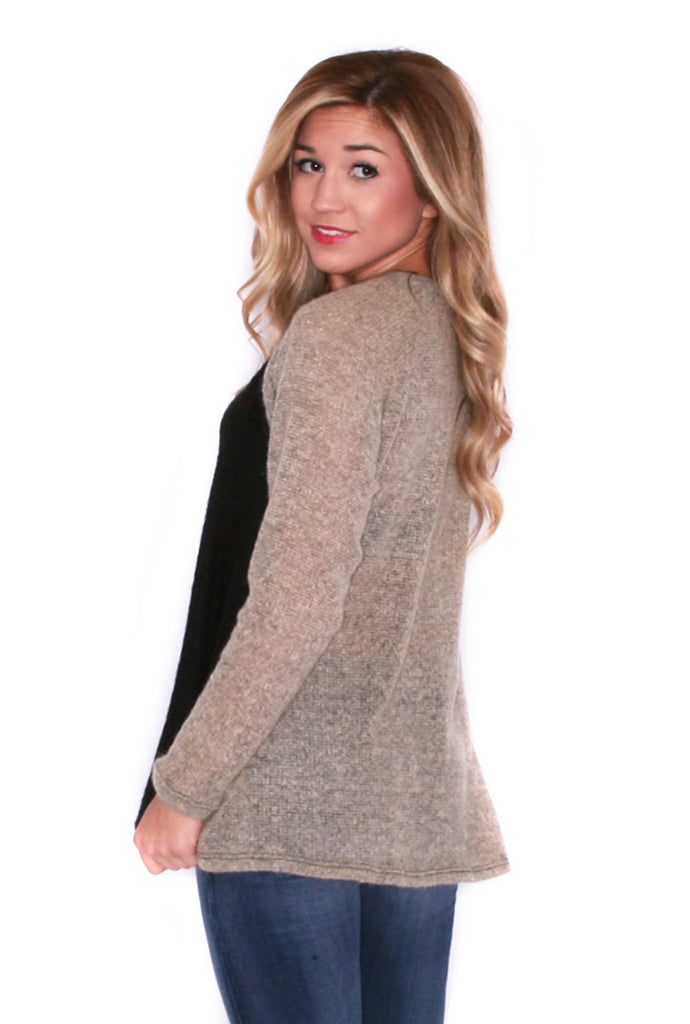 Weekend Cuddles Sweater Taupe