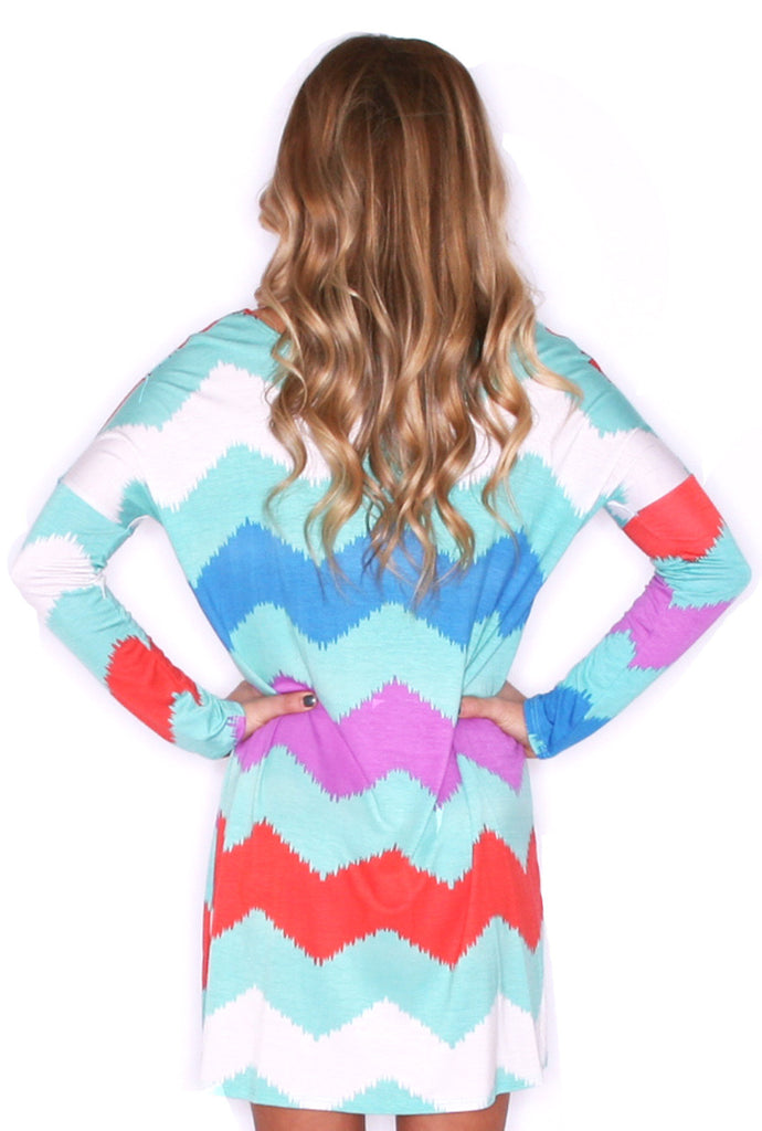 West Coast Dreaming Tunic Mint/Coral