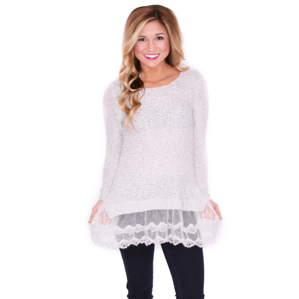 Winter Divine Sweater in Grey