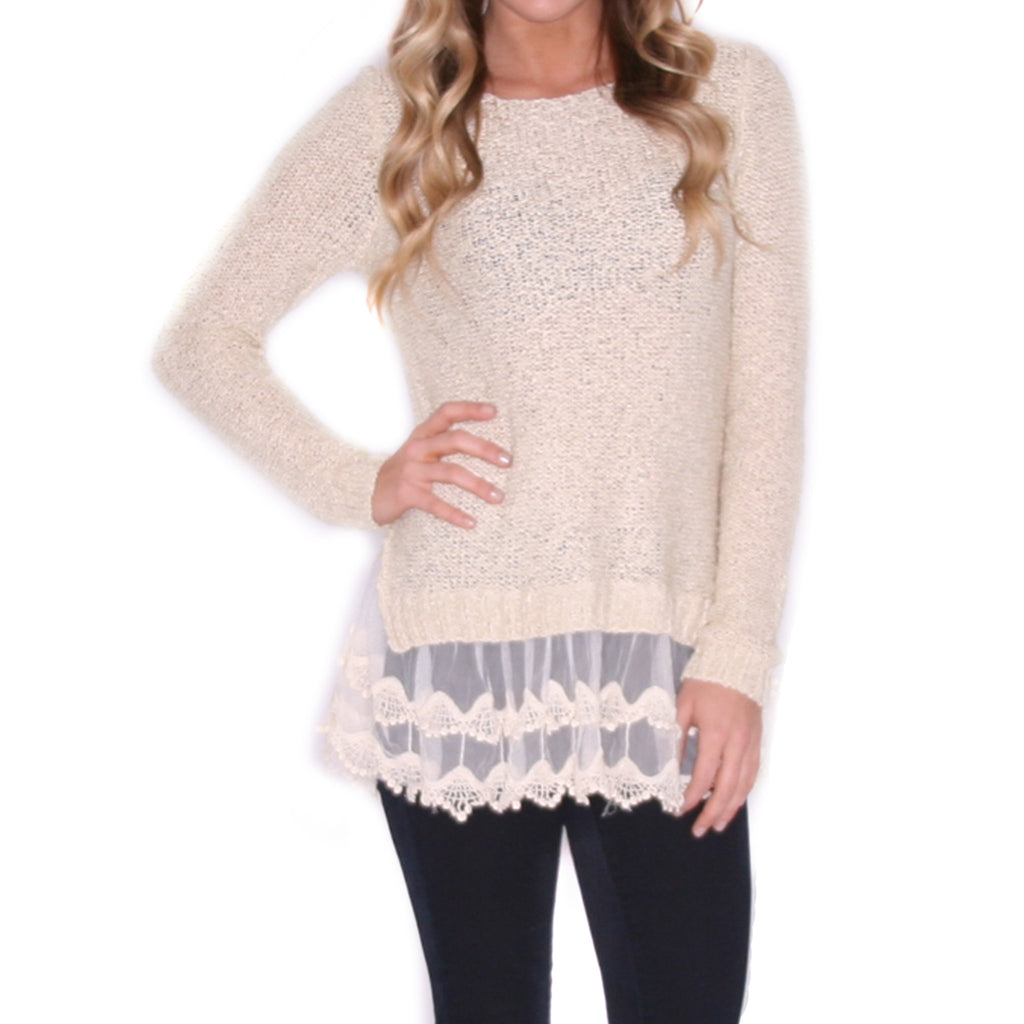 Winter Divine Sweater in Ivory