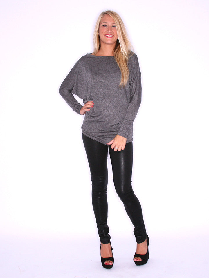 Wrap Me Up Tunic Charcoal