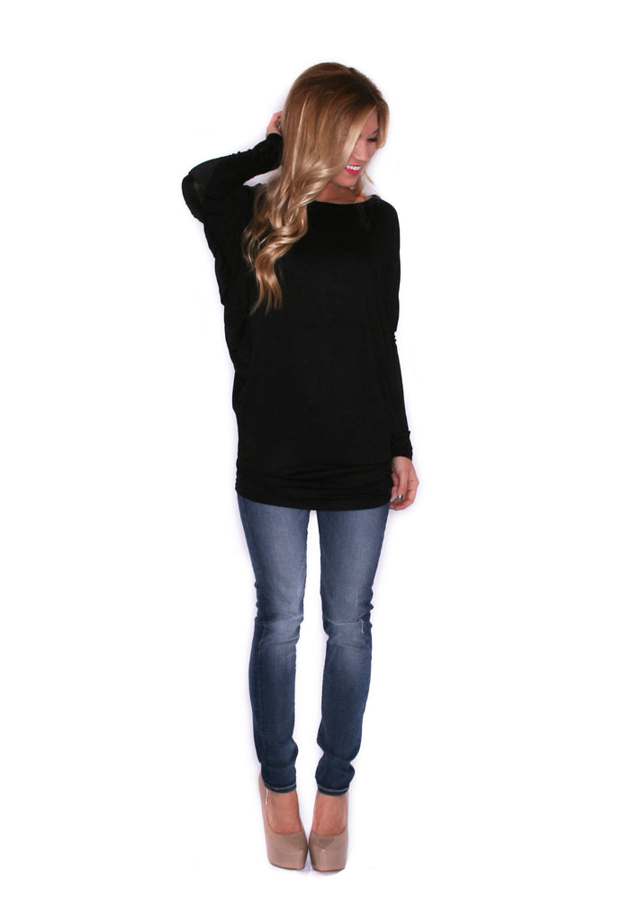 Wrap Me Up Tunic Black