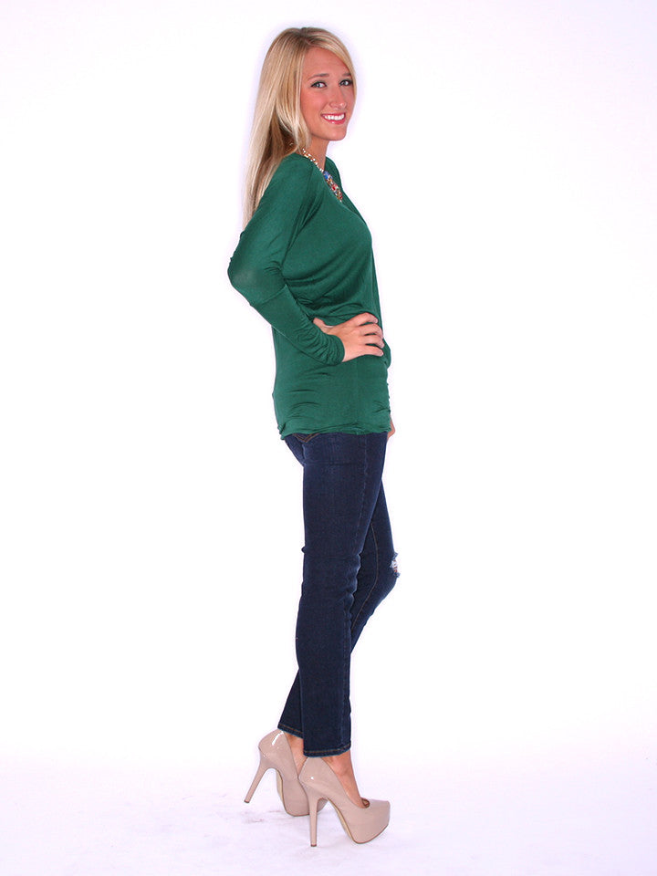 Wrap Me Up Tunic Green