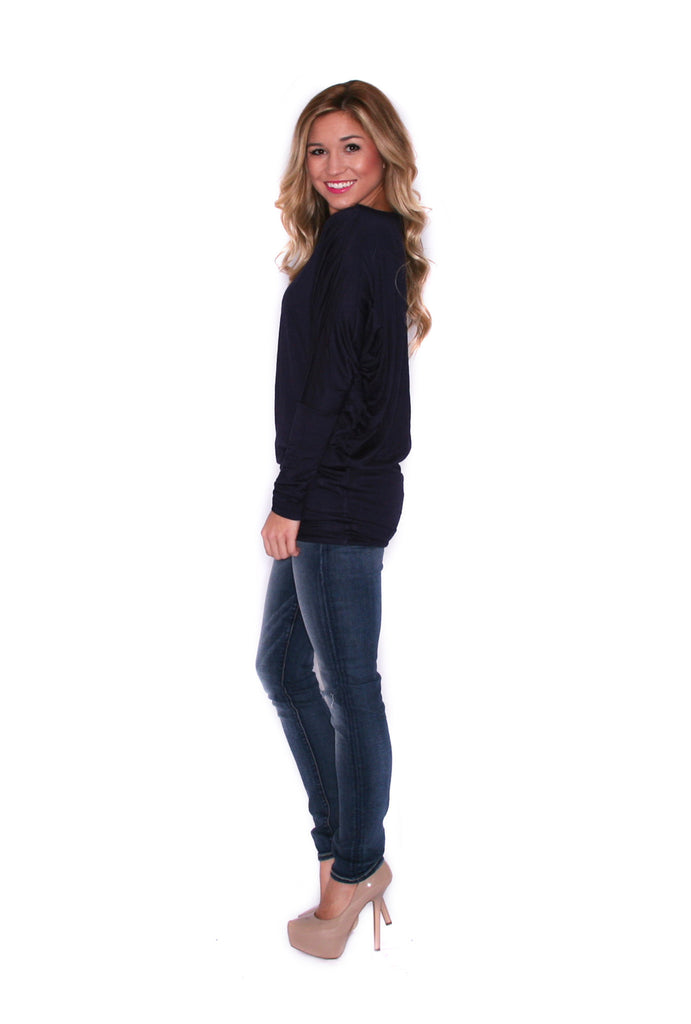Wrap Me Up Tunic Navy