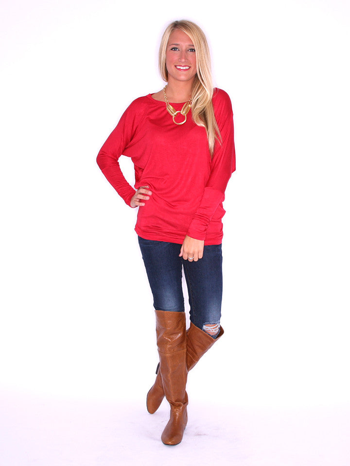 Wrap Me Up Tunic Red