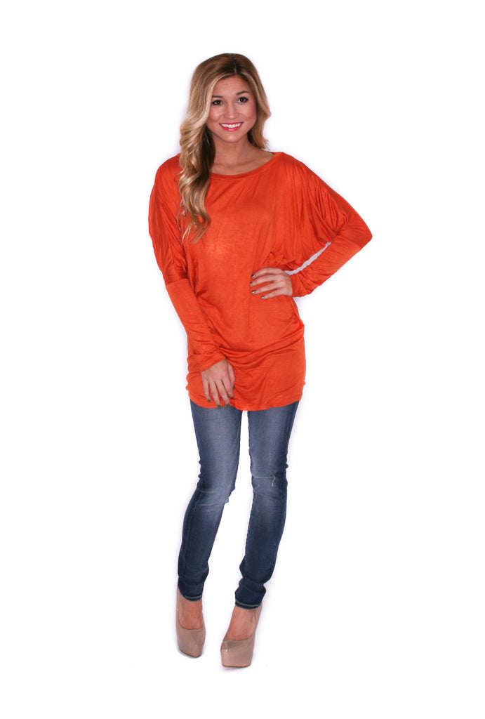 Wrap Me Up Tunic Rust