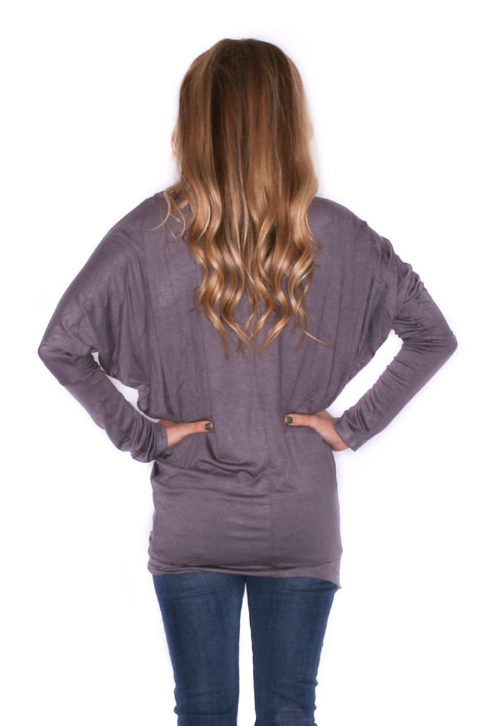 Wrap Me Up Tunic Dark Grey