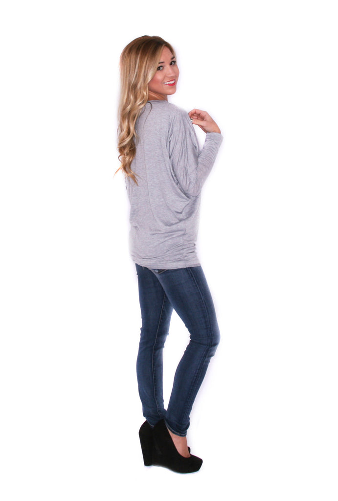 Wrap Me Up Tunic Heather Grey